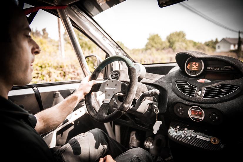 Pascal Huteau pilote Twingo R1 Rallycross
